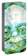 Yoda Watercolor Portrait Portable Battery Charger