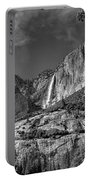 Yosemite Falls - Bw Portable Battery Charger