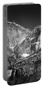 Yosemite Falls In Black And White II Portable Battery Charger by Bill Gallagher