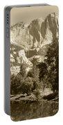 Yosemite Falls Sepia Portable Battery Charger