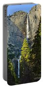 Yosemite Falls With Late Afternoon Light In Yosemite National Park. Portable Battery Charger by Jamie Pham