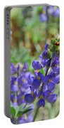 Yosemite Lupine And Ladybug Portable Battery Charger