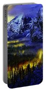 Yosemite Valley At Night Portable Battery Charger