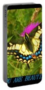 You Are Beautiful Portable Battery Charger