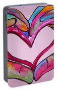 You Hold My Heart In Your Hands Portable Battery Charger