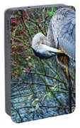 Young Blue Heron Preening Portable Battery Charger