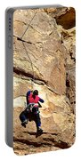 Young Climber In Joshua Tree Np-ca- Portable Battery Charger