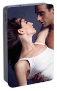 Young Couple About To Kiss Portable Battery Charger
