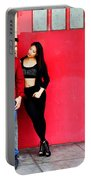 Young Couple Red Doors Portable Battery Charger