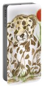 Young Cub Leopard Portable Battery Charger