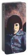 Young Girl In Blue Sweater Portable Battery Charger