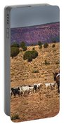 Young Goat Herders Portable Battery Charger by Priscilla Burgers