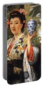 Young Japanese Lady Portable Battery Charger