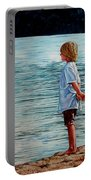 Young Lad By The Shore Portable Battery Charger