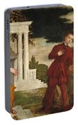 Young Man Between Vice And Virtue Portable Battery Charger