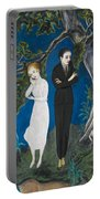 Young Man In Black. Girl In White Portable Battery Charger