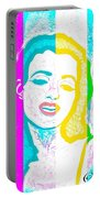 Young Marilyn Soft Pastels Impression Portable Battery Charger