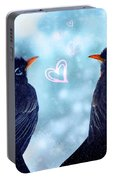 Young Robins In Love Portable Battery Charger