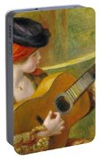 Young Spanish Woman With A Guitar Portable Battery Charger