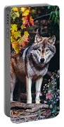 Young Timber Wolf Portable Battery Charger