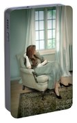 Young Woman In A Chair Portable Battery Charger