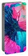 Yucca Abstract Pink Blue Green Portable Battery Charger