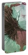 Yucca Abstract Sage And Mauve Portable Battery Charger