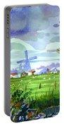 Zaanse Schans Windmills Portable Battery Charger