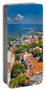 Zagreb Capital Of Croatia Aerial View Portable Battery Charger