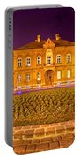 Zagreb Street Architecture Night Scene Portable Battery Charger
