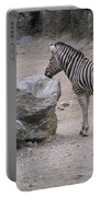 Zebra And Rock Portable Battery Charger