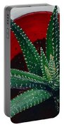 Zebra Cactus In Red Glass Portable Battery Charger