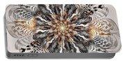 Zebra Flower Portable Battery Charger