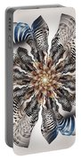 Zebra Flower Portable Battery Charger