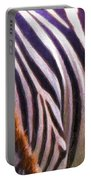 Zebra Lines Portable Battery Charger