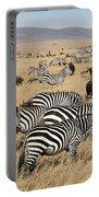 Zebra Migration Maasai Mara Kenya Portable Battery Charger