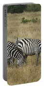 Zebra On Masai Mara Plains Portable Battery Charger