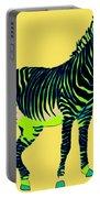 Zebra Pop Art Portable Battery Charger