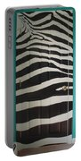 Zebra Stripe Mural - Door Number 2 Portable Battery Charger