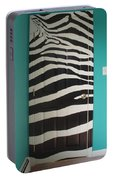 Zebra Stripe Mural - Door Number 2 Portable Battery Charger