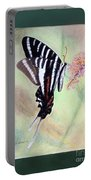 Zebra Swallowtail Butterfly By George Wood Portable Battery Charger