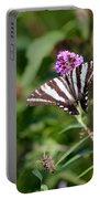 Zebra Swallowtail Butterfly In Garden Portable Battery Charger