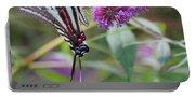 Zebra Swallowtail Butterfly On Butterfly Bush  Portable Battery Charger