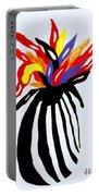 Zebra Vase Portable Battery Charger