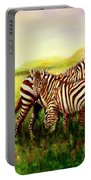 Zebras At Ngorongoro Crater Portable Battery Charger