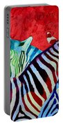 Zebras In Love  Portable Battery Charger