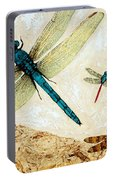 Zen Flight - Dragonfly Art By Sharon Cummings Portable Battery Charger