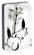 Zen Horses Moon Reverence Portable Battery Charger