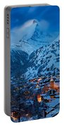 Zermatt - Winter's Night Portable Battery Charger by Brian Jannsen