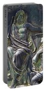 Zeus Bronze Statue Dresden Opera House Portable Battery Charger by Jordan Blackstone